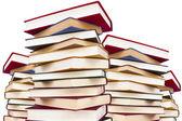 Libros aislados de fondo blanco — Stockfoto