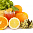 Healthy diet of fresh fruit — Stock Photo