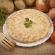 Spanish potato omelette - Stock Photo