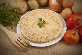 Spanish potato omelette — Stock Photo