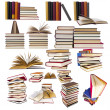 Collection and set of books — Stock Photo