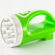 Green flashlight — Stockfoto