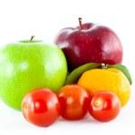 Mix fruit isolated — Stock Photo