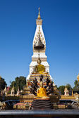 White Pagoda on blue sky background — Stock Photo