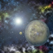 Stock Photo: Planets in the space