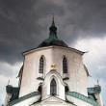 The pilgrimage church zelena hora — Stock Photo #10415991