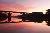železniční most — Stock fotografie
