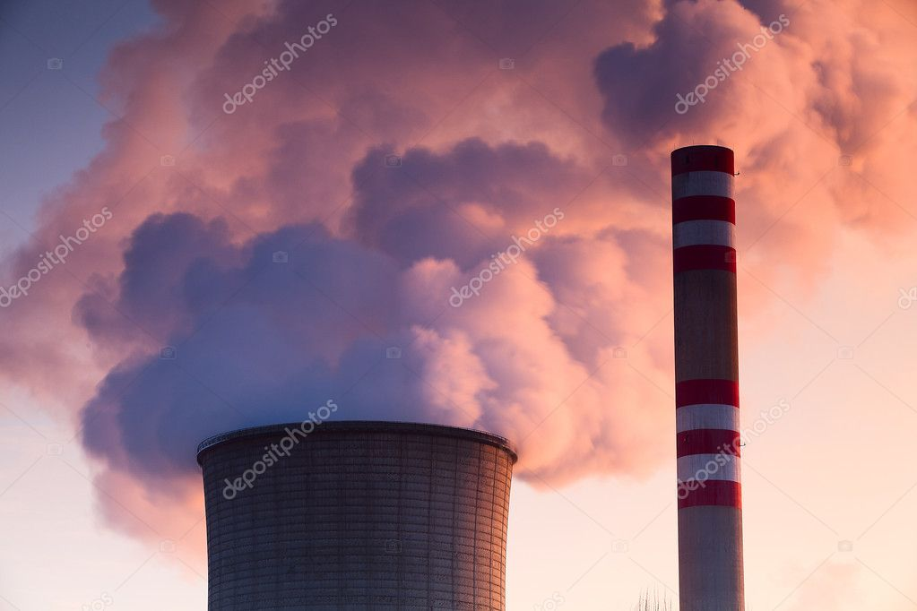 Heat and power central, smoke pipe against clear blue sky — Stock Photo #9013473