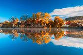 The reflection on the pond — Stock Photo