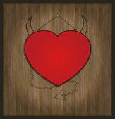 Raster blackboard heart Valentine love red — Stock Photo