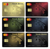 Vector Credit card Colors — Stock Vector