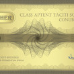 vector voucher gouden guilloche certificaat coupon — Stockvector
