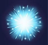Fireworks blue background glow explosion blue — 图库矢量图片