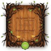 Vector Bio background Wood — Vector de stock