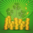 Raster St. Patrick's Day Money coin green — Stock Photo