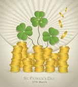 Vector St. Patrick's Day Money coin — Stock Vector
