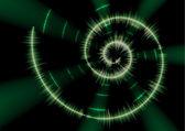 Spiral music waveform — Stock Vector
