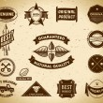 Set of vintage Premium Quality labels — Stock Vector #10166966
