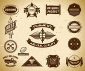 Set of vintage Premium Quality labels — Stockvector