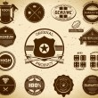 Vintage labels. Collection 10 — Stock Vector