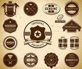 Etichette d'epoca. collezione 10 — Vettoriale Stock