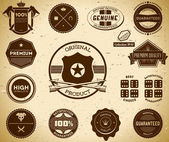 Vintage labels. Collection 10 — Vector de stock
