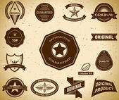 Vintage labels. Collection 11 — Stock Vector