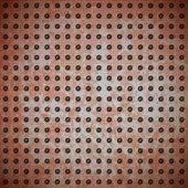 Rusty metal with rivet grid — Vetorial Stock