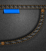 Black jeans pocket — Stock Vector