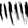 Set of isolated brushstrokes - Imagen vectorial