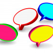Round 3D speech bubbles — Stock Vector