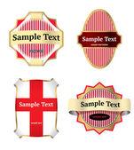 Set di etichette colorate — Vettoriale Stock
