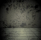 Concrete grunge kamer — Stockvector