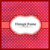 Vintage polka dot frame. Eps10 — Stock Vector