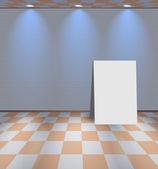 Grigio camera alleggerito con stand — Vettoriale Stock