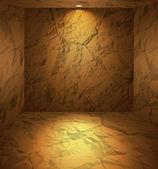 Dug room with earthen walls — Stock Vector