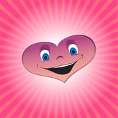 Cartoon heart — Stock Vector