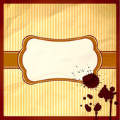Crumpled frame with hot chocolate drops — Stock Vector