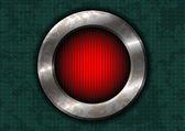 Círculo de metal oxidado con luz roja — Vector de stock