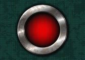 Roestige metalen cirkel met rood licht — Stockvector