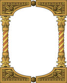 Traditional wooden frame — Stock Vector