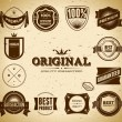 Set of vintage Premium Quality labels - Stock Vector