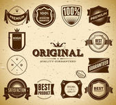 Set of vintage Premium Quality labels — Stock Vector