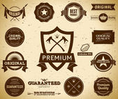 Vintage Premium Quality labels Collection 6 — Stock Vector
