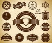 Etiquetas de calidad premium vintage — Vector de stock