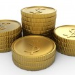 Pile of golden coins — Stock Photo #8955620
