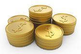 Pile of golden coins — Stock Photo