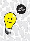 Happy lamp — Stock Vector