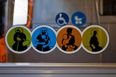 Travel and transportation icons — Stock Photo