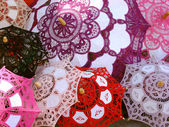 Colorful chinese parasols — Stock Photo